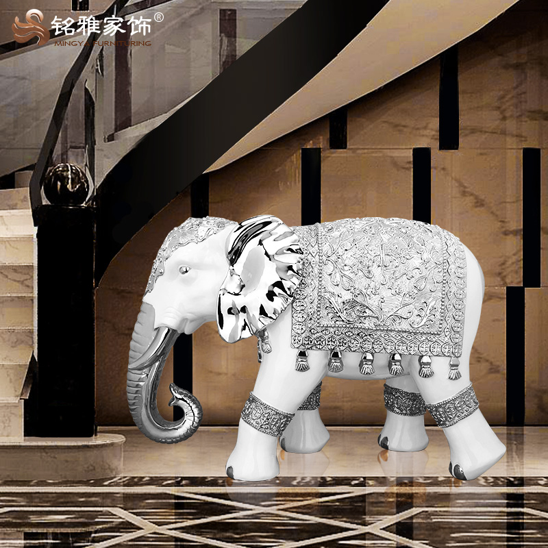 Hot sale home decoration indian antique resin large elephant statues