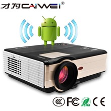 full hd projector support 1080P HD 3d led 4.4.4 android Wifi projector native 1280*800 4000 Lumens