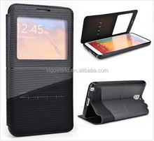 Slide book folio mobile phone cover for Samsung Galaxy note 3 case PU leather slide to unlock