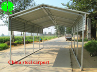 steel frame canopy carport/outdoor metal carports