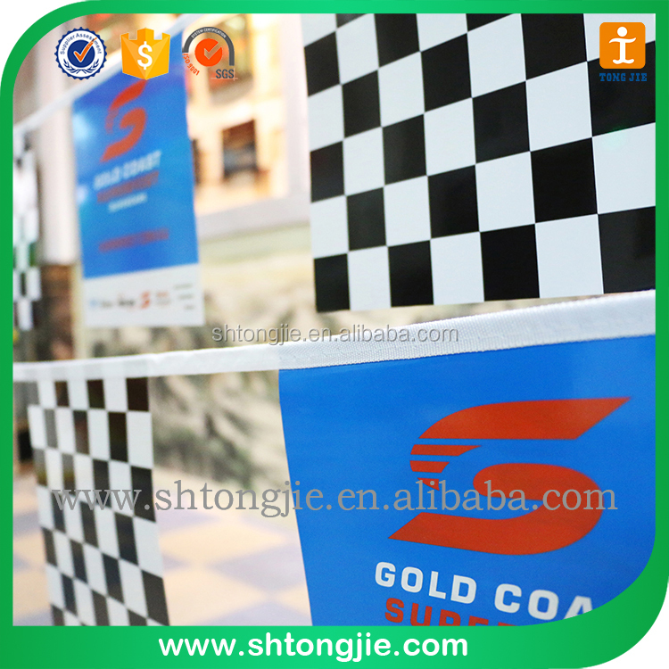 TJCecilia276 PVC both sides bunting flags string banners