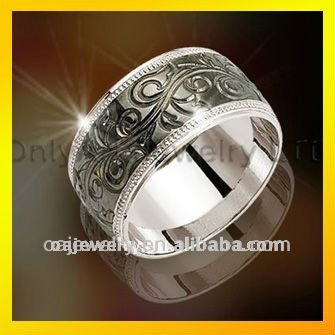 traditional wholesale fine jewlery new design silver engraved rings paypal acceptable