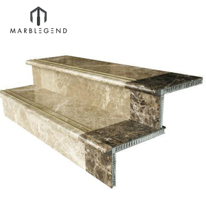wholesale modern staircase design composite aluminum marble step stairs stair parts