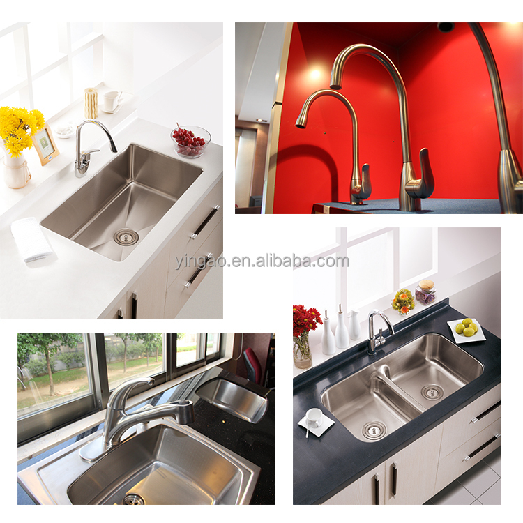 Single Handle Outdoor Most Popular Stainless Steel Big Kitchen Faucet