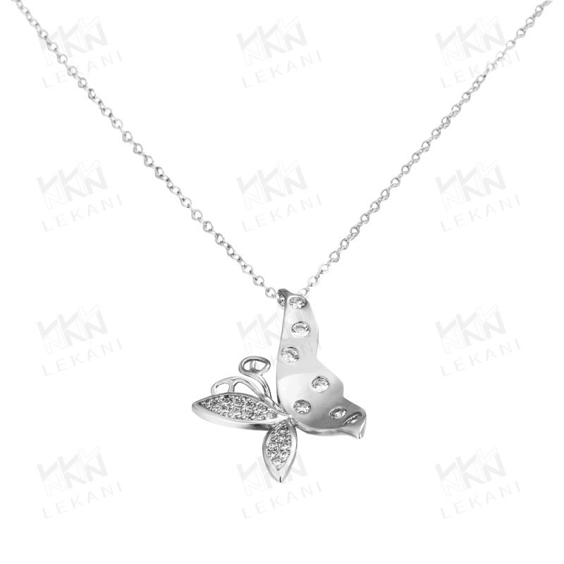 Jewlery Necklace Wholesale White Gold Plated Pendant Necklace