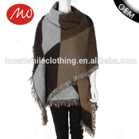 New fashion design cashmere scarf knitted shawl for women