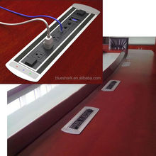 Multifunctional conference table electric flip up rotation switch extension furniture power socket strip for larger conference