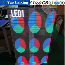 2017 HD Transparent LED full color display screen,Indoor beautiful hanging wall full color transparent color display