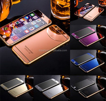 Color Mirror Effect Temper Glass Protector For iphone 6 6 plus Front & Back