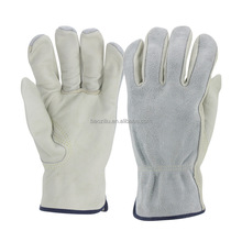 <strong>Safety</strong> industrial working place quality leather fleece insulation gloves Labor protection glove