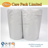 Resealable food grade standup foil lined coffee sachet packaging