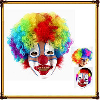 High Quality Party Wig And Latex Clown Mask