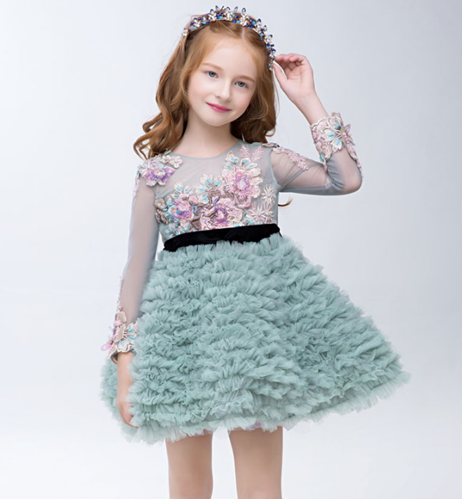 Top sell kids frock designs one piece girls party dresses children frock model designs pictures