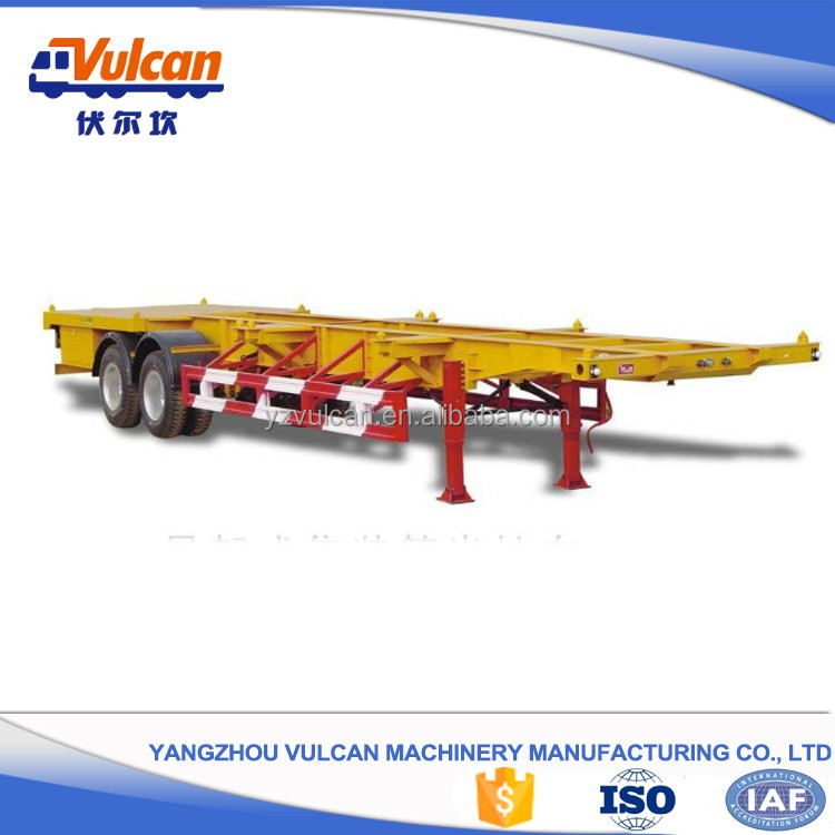 Manufacturer utility 4 wheel container trailer with certificate