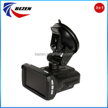 Newly designed Full Band fhd1080p Radar Detector with car dvr camera Speed Warning System