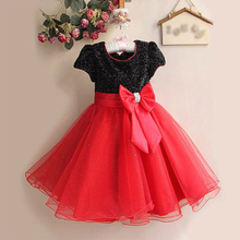 2015 new style girl Party black with blue bow Dress Children princess dress baby girl party dress children frocks designs GZ G12