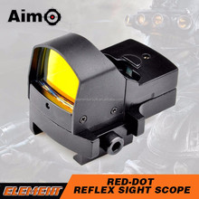 Aim-O 1X Magnification 4MOA Dot Size Red Dot Scope Reflex Free Laser dot sight Hunting Products for airsoft hunting