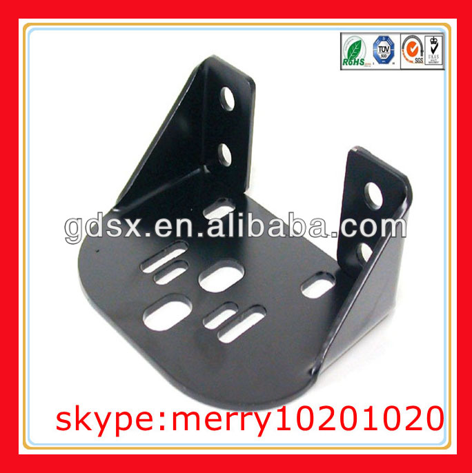 custom heavy duty steel angle brackets anodized black angle brackets