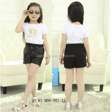 wholesale baby clothing summer sparkle fashion shorts cheap sequin shorts