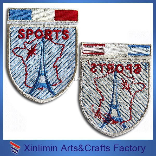 Custom high quality embroidery heat patch for hat