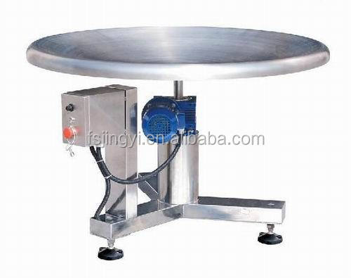 automatic electric turnable packing table for collecting goods