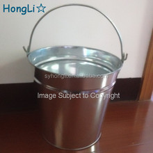 Hot Sale mini tin bucket/tin ice bucket/tin plate bucket decorative with handle