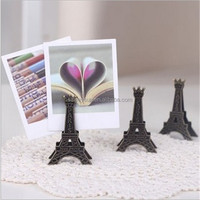 Vintage Eiffel Tower Metal Clip Creative Name Card Note Memo Photo Clip