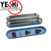 Promotional Rectangle metal pencil box set school stationeries