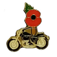 Metal motorcycle poppy pin badge/Auto poppy badge