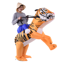 Portable Mascot Animal Shaped Drama Stage Cosplay Tiger Kids Inflatable Costume