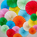 2015 New Design PartySupplier Hanging Ceiling PAPER Party Decoration Paper Fans