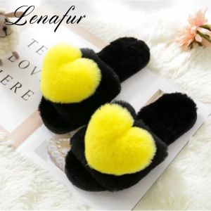 New Fashion Lady China Soft Real Rabbit Fur Slippers For Women