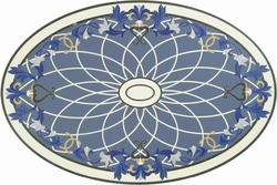 Very beautiful waterjet marble tiles design floor pattern marble medallion tiles