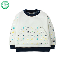 Wholesale Unisex Baby Clothes Cotton Long Sleeves Newborn Baby Boy Shirt with Number Pattern for Spring Winter