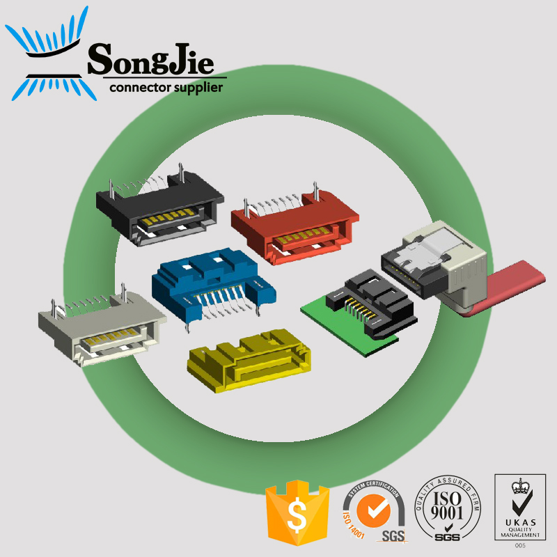 Manufacturing sata 15p 22p male solder connector/socket