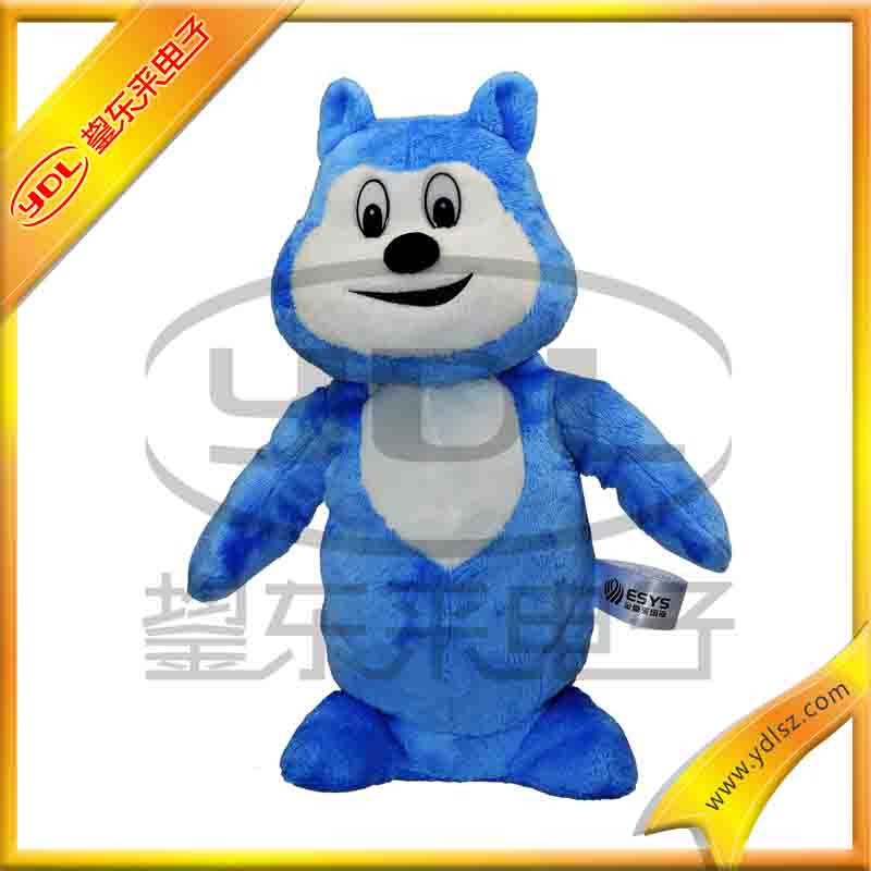 Singing and dancing plush toy with existing moduel