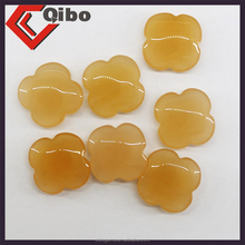Four Leaf Clover Gemstone Shape cabochon agate