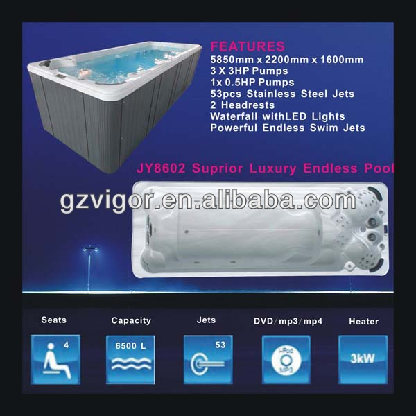 Free sex usa massage hot tub made in China(JY8602)/air jet outdoswimming spa cheap
