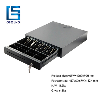 CR-405 CE approved automatic pos cash register with 4/5 coins on sale