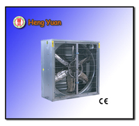Wall mounted drop hammer type exhaust fan for greenhouse and poultry farm