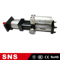 MGP Series Air and Liquid Booster Pneumatic Head Gasket Diesel Engine Clutch Master Lock Helium Gas Cylinder, SNS MPTF 63x100