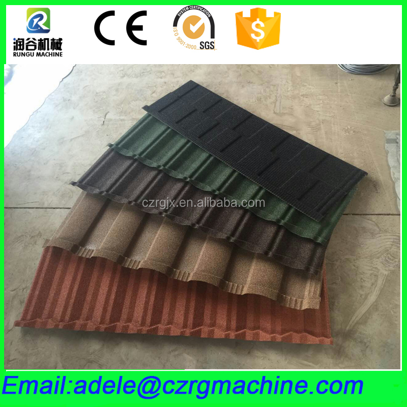 Colorful Stone Chip Coated Steel Roof Tile Machine