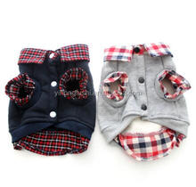 Wholesale Dog Boy Plaid Pet Cat Hoody Sweater Coat Jacket Shirt Puppy cloth