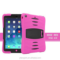For Apple iPad Air 2 Hybrid Silicone TPU & Plastic Rugged Heavy Duty Combo High Impact Durable Bac