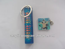Factory supplies elegant and cheap for custom acrylic key chain