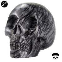 Super Hot gits craft stone carved 2 inch natural network jasper skull art and craft for home decoration