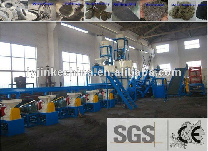 Automatic scrap tire production line to powder and particles with CE