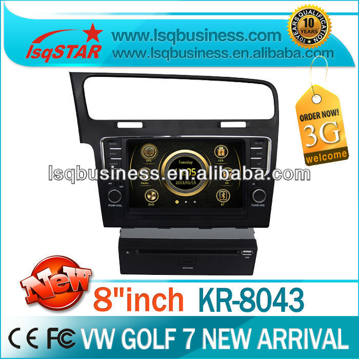 LSQ Star Car Gps Headunit With Dvd Bluetooth Multifunctions For 2012 Vw Golf7