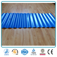 Corrugated steel roofing sheet with PE polymer polyester or PVDF polyvinyl denford Coating