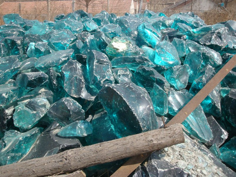 Natural Clear Colored Cobalt Blue Slag Glass Rocks For Gabion And Home Landscaping Buy Glass